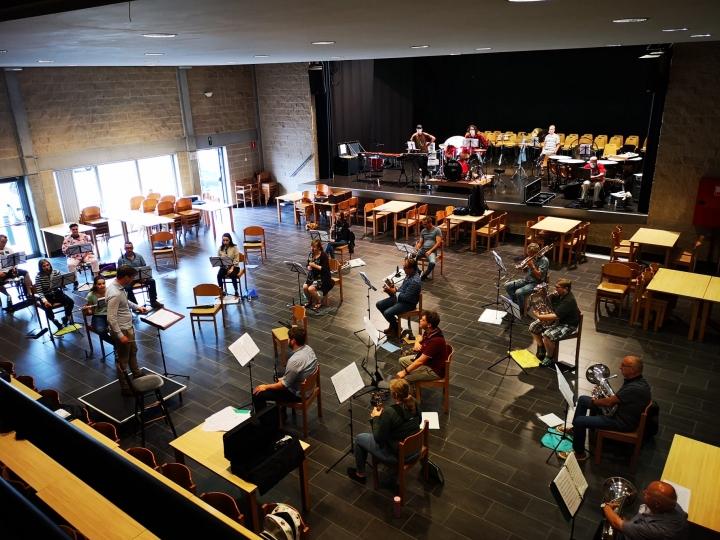 Eerste (speciale) repetitie met onze nieuwe dirigent !